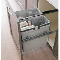 "18"" WASTE BIN - TWO 32 QUART - FITS 21"" BASE CABINET (SOLD SEPAR"