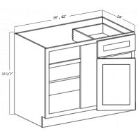 BLIND BASE CORNER CABINET 1 DOOR 1 DRAWER 1 SHELF