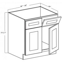 SINK BASE 2 DOOR 2 DUMMY DRAWER W/TIPOUT 1 SHELF